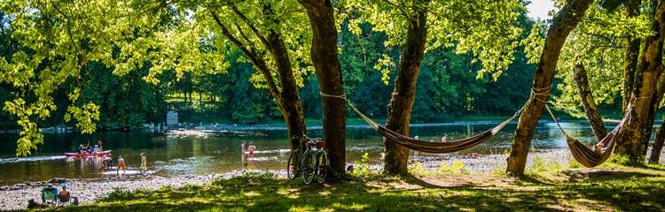 Camping 3 éotiles bord de rivière Rocamadour