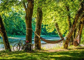 Camping bord de rivière Lot