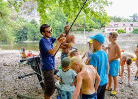 Camping familial pêche Lot