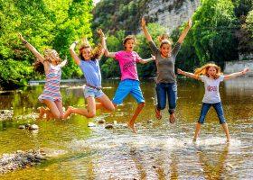 Camping familial rivière Lot